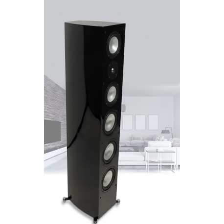 R-55E Tower Speaker Black Gloss